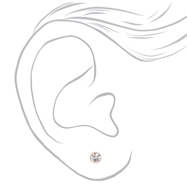 Claire's - rose crystal graduated stud earrings - 2