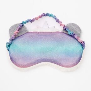 Claire's Club Queen Panda Sleeping Mask - White,