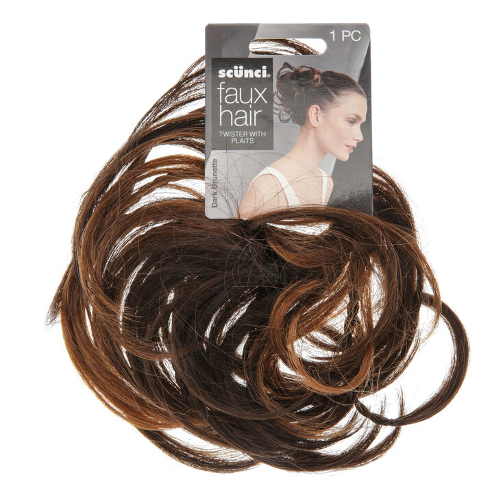 Faux Hair Twister With Plaits Hair Bobble Claire S