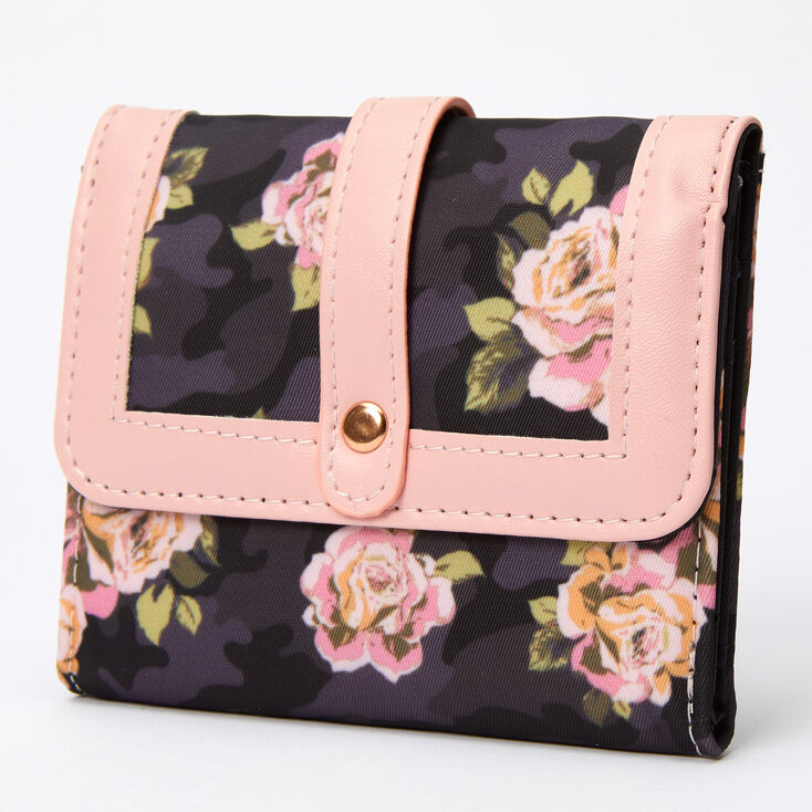 Trifold Floral Camo Wallet,