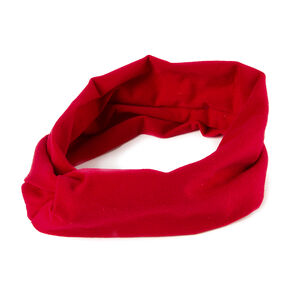 Wide Jersey Twisted Headwrap - Red,