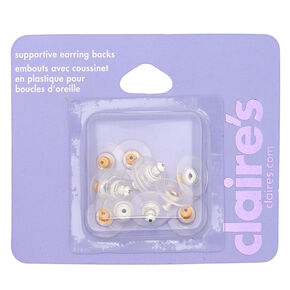 Mixed Metal Supportive Earring Backs - 12 Pack,