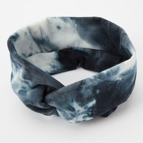 Tie Dye Twisted Headwrap - Black,