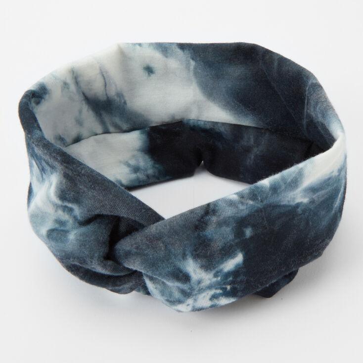 Tie Dye Twisted Headwrap - Black,