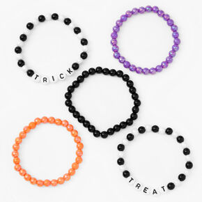 Trick or Treat Beaded Stretch Bracelets - 5 Pack,