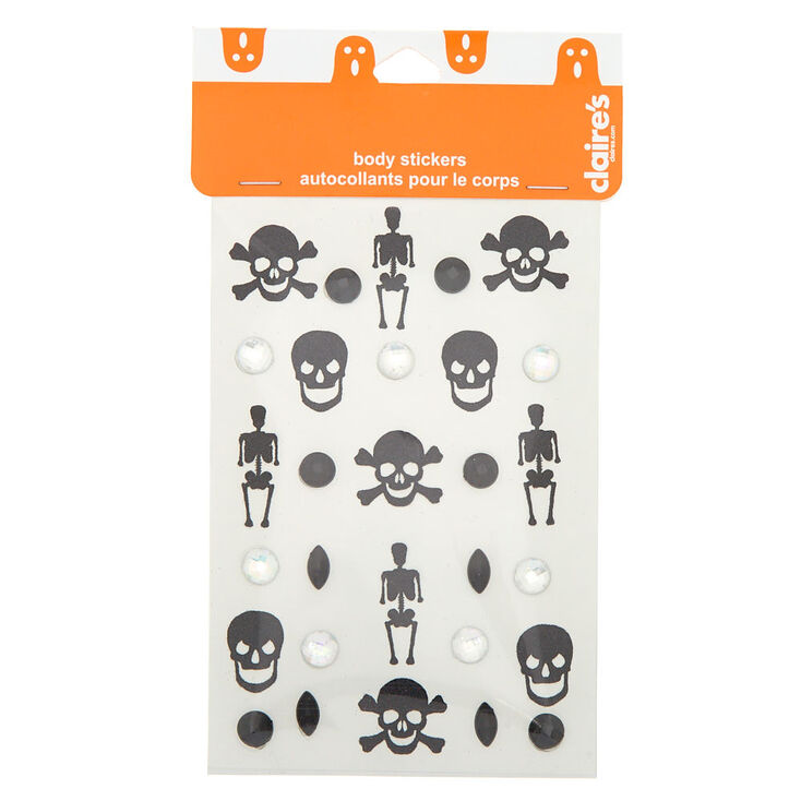 Skeleton Glitter Body Stickers,