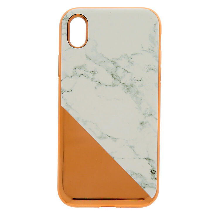 pretty nice 31072 36b5e Rose Gold Marble Protective Phone Case - Fits iPhone XR