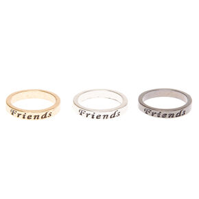 Best Friends Mixed Metal Rings - 3 Pack,