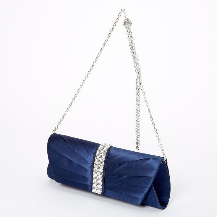 Embellished Clutch Bag - Navy,