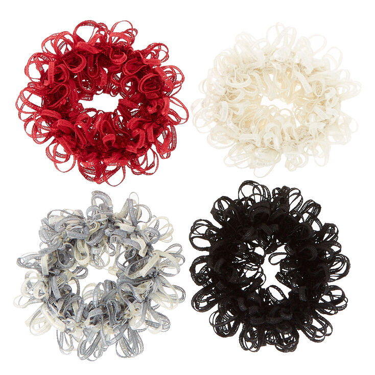 Small Fall Fun Looped Hair Scrunchies - 4 Pack,