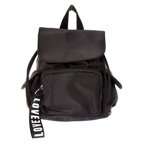 Nylon Mini Backpack - Black,