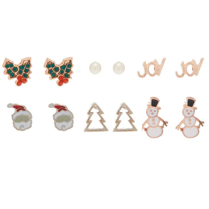 Christmas Stud Earrings - 6 Pack,