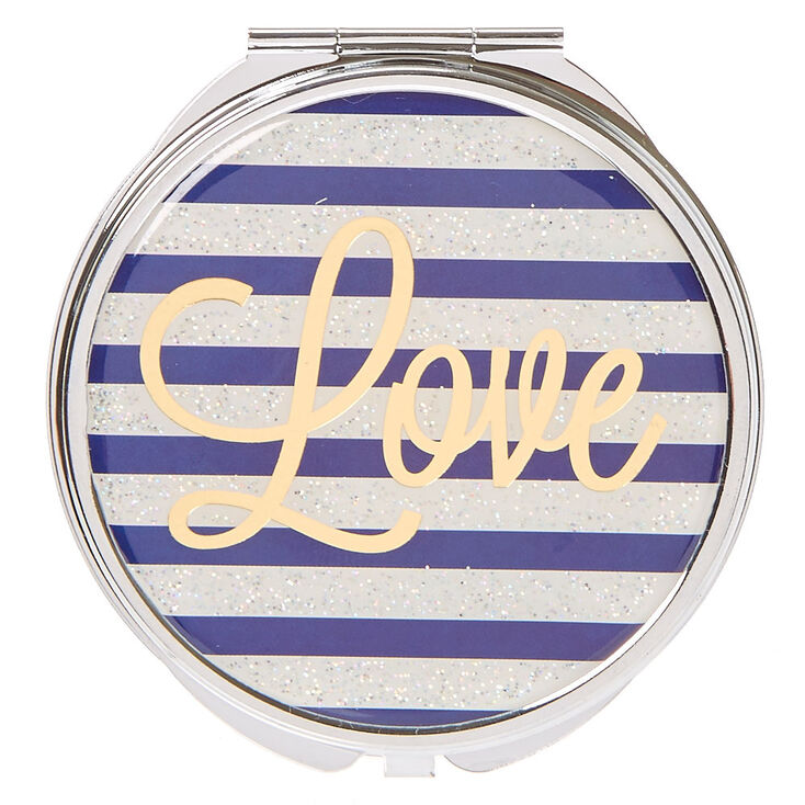 Excellent Love Blue White Compact Mirror Gamerscity Chair Design For Home Gamerscityorg