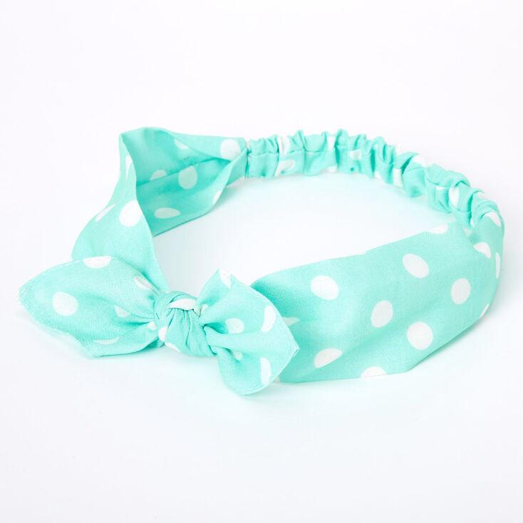 headwrap Spearmint bow top knot