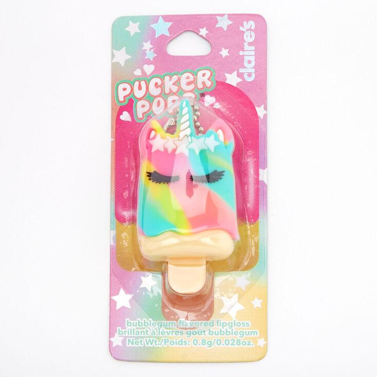 Pucker Pops® Rainbow Unicorn Lip Gloss - Bubblegum,