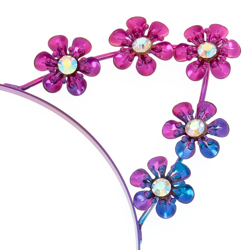 Claire/'s Girl/'s Anodized Metal Flower Cat Ears Headband Rainbow