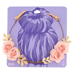 Rose Flower Hair Swag - Blush,