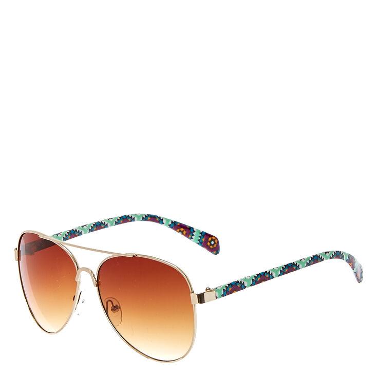 Geometric Mint Pattern Sunglasses,