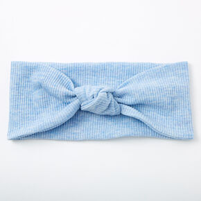 Ribbed Knotted Headwrap - Blue,