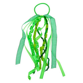 St. Patrick's Day Ribbon Hair Tie - Green,