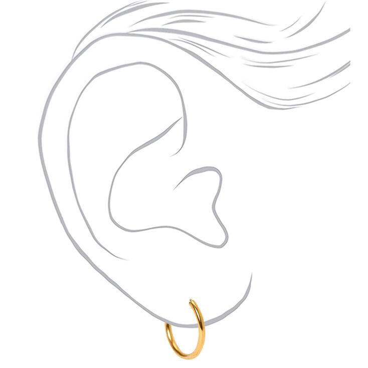 18kt Gold Plated Hoop Earrings - 2 Pack,