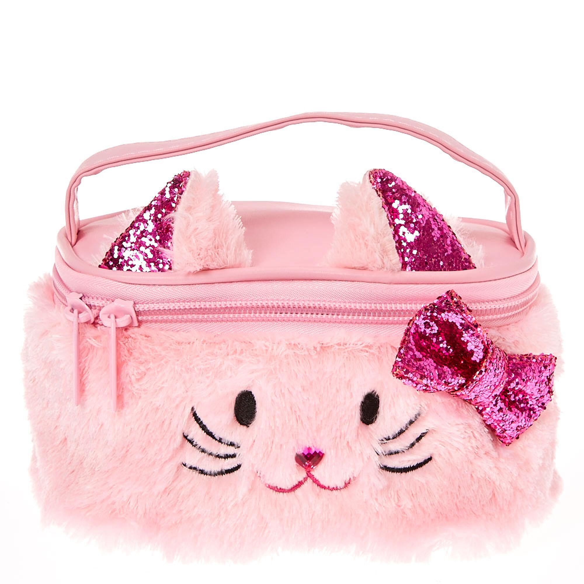Plush Avery The Cat Makeup Bag Pink