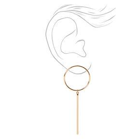 Pendantes linéaires cercle ajouré 8cm couleur dorée,