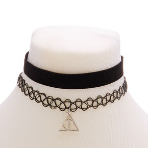 Harry Potter™ Deathly Hallows Velvet Choker - Black,