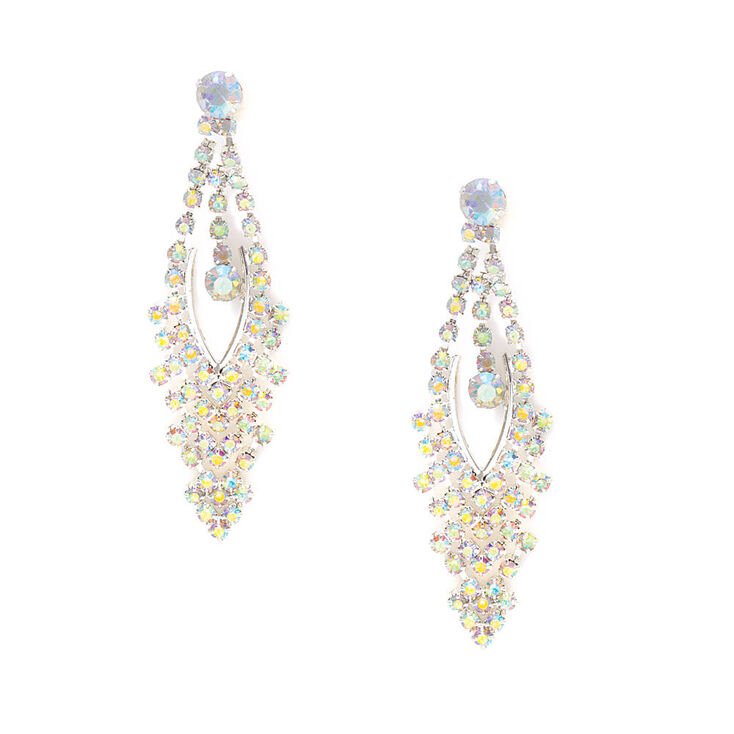 Aurora Borealis Crystal Marquis Drop Earrings