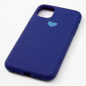 Navy Heart Protective Phone Case - Fits iPhone 11,