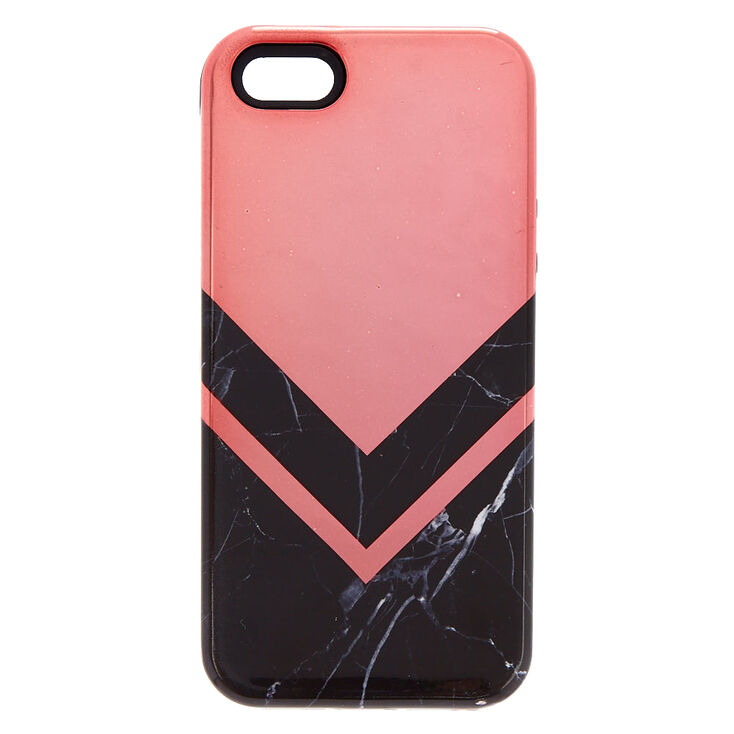 the latest 47003 af62b Black Marble Geometric Protective Phone Case - Fits iPhone 6/7/8 Plus