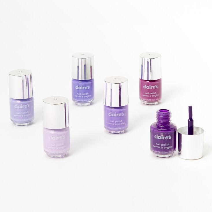 Lot de mini vernis à ongles violets — Lot de 6,