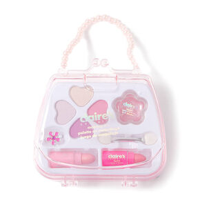 Claire's Club Pearl Purse Makeup Set - White,