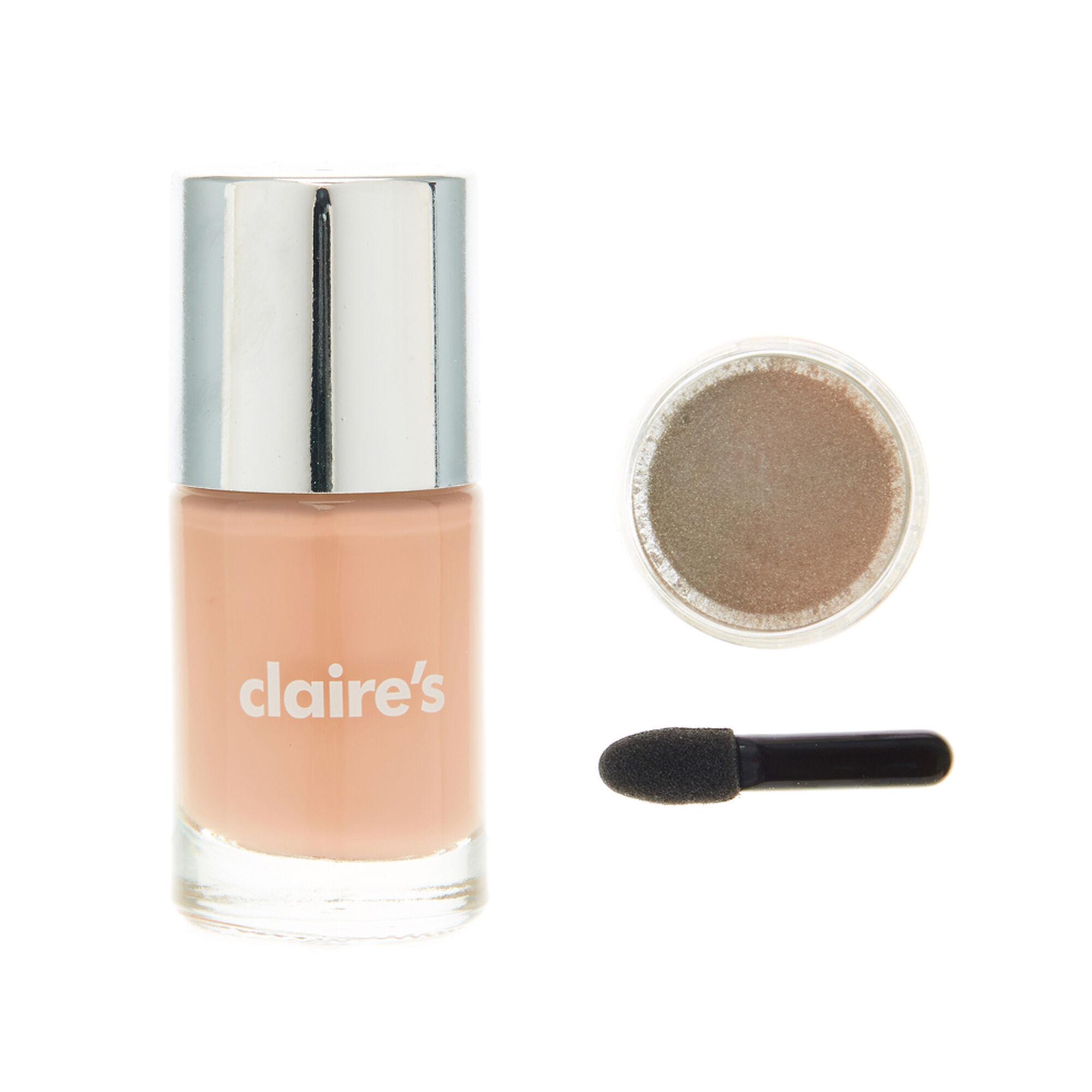 Pink Chrome Powder Nails Set | Claire\'s