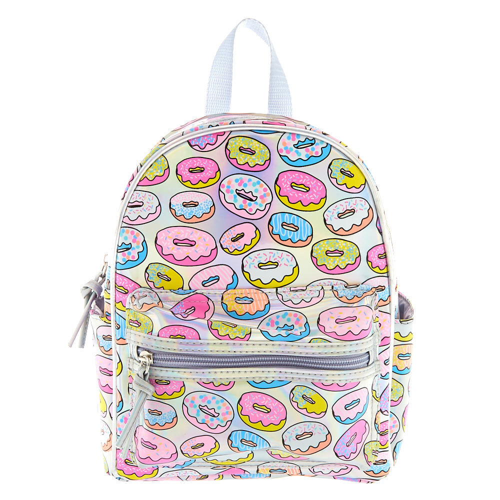 Holographic Donut Backpack | Claire's US