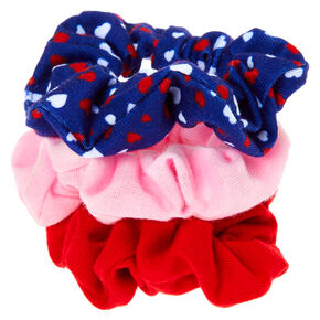 Claire's Club Small Heart Hair Scrunchies - 3 Pack,