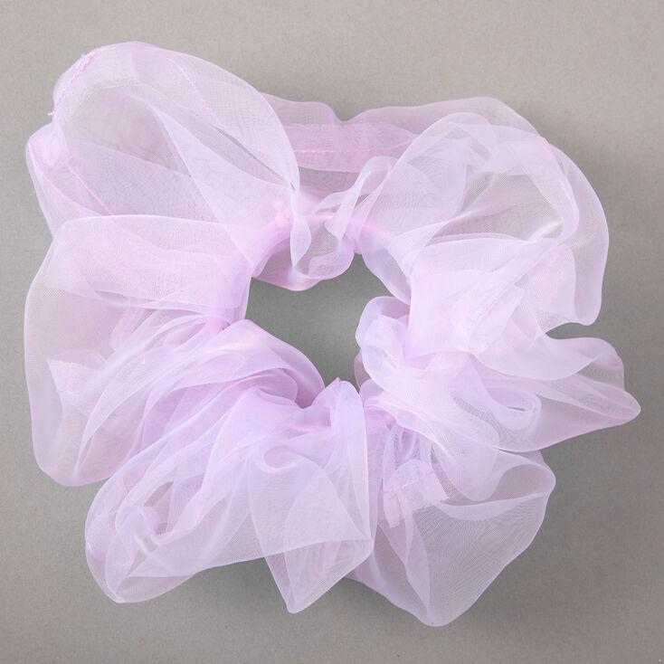 Giant Organza Hair Scrunchie - Lilac,