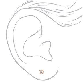Mixed Metal Graduated Stud Earrings - 9 Pack,