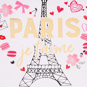 Sac cadeau Paris de taille moyenne - Rose,