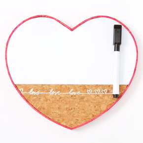 Love Script Heart Locker Dry Erase Board,