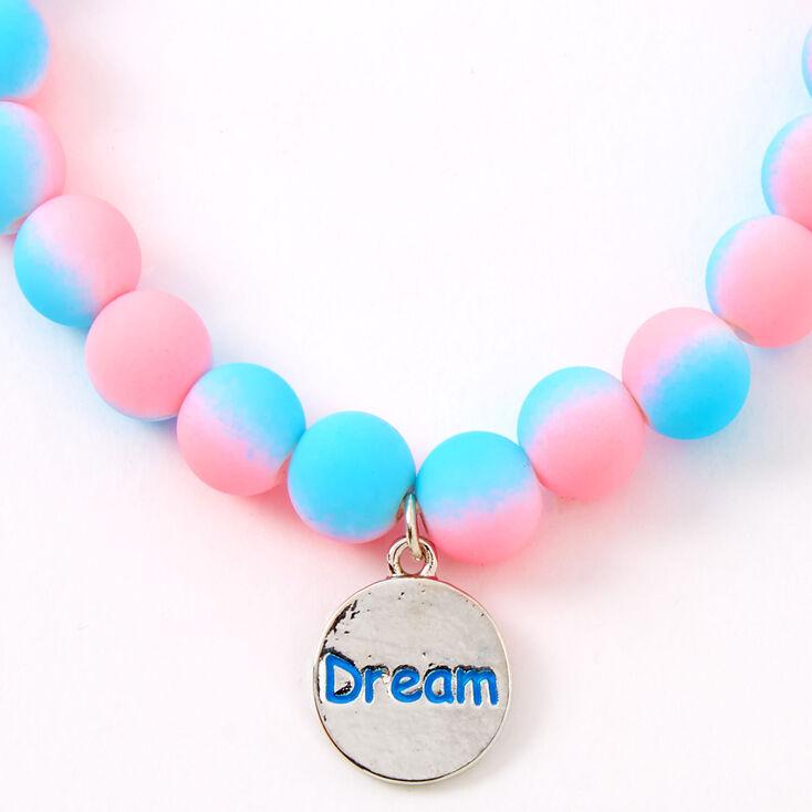 Ombre Matte Dream Beaded Stretch Bracelet,