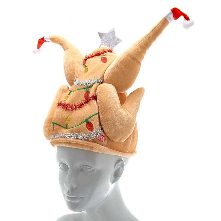 Chapeau dinde de Noël sonore et animé,