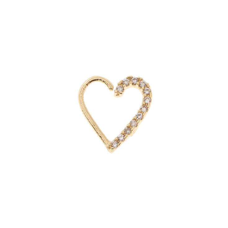 Crystal Heart Daith Earring,