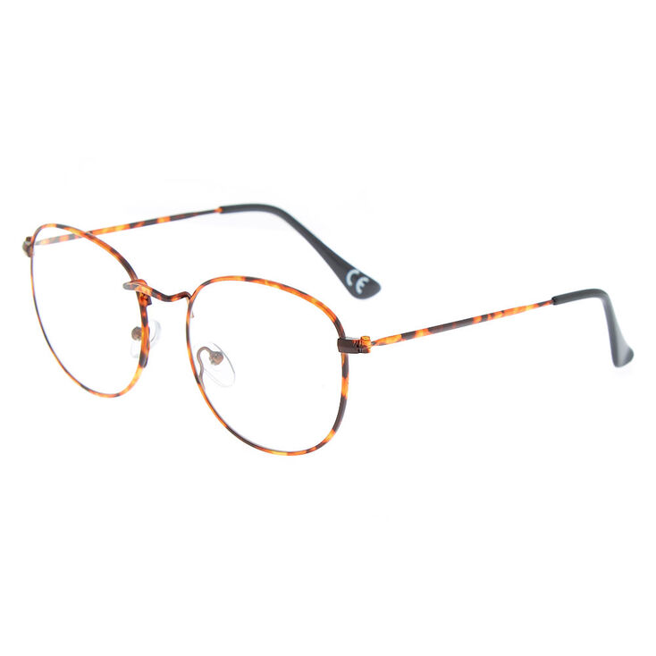 4272126523 Monture de lunettes ronde écaille de tortue marron | Claire's FR