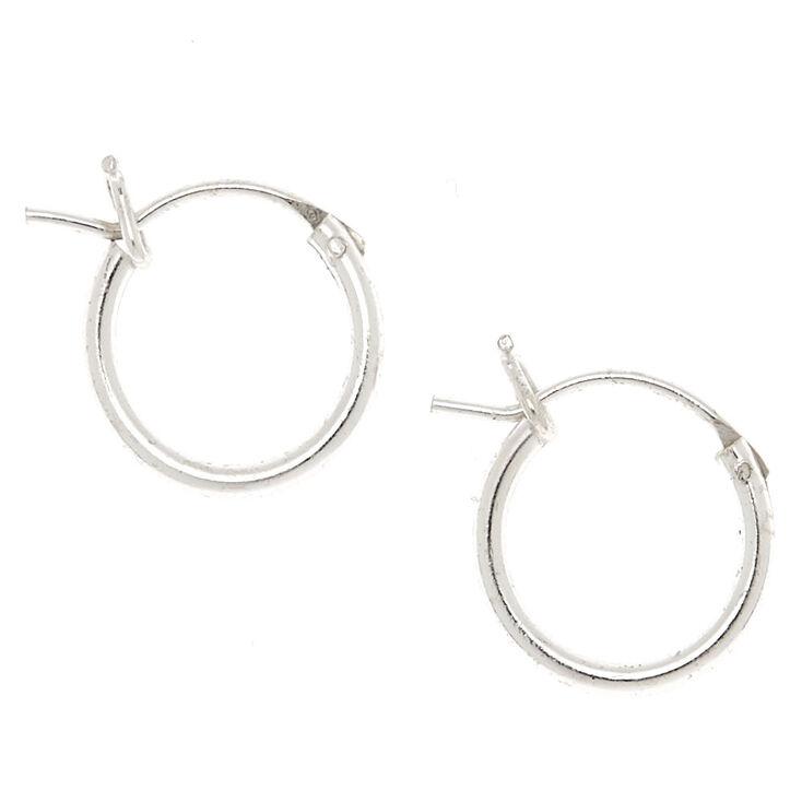 ee2fbc044e51c Sterling Silver 10MM Hinge Hoop Earrings