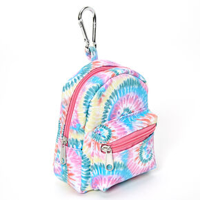 Rainbow Tie Dye Mini Backpack Keychain,