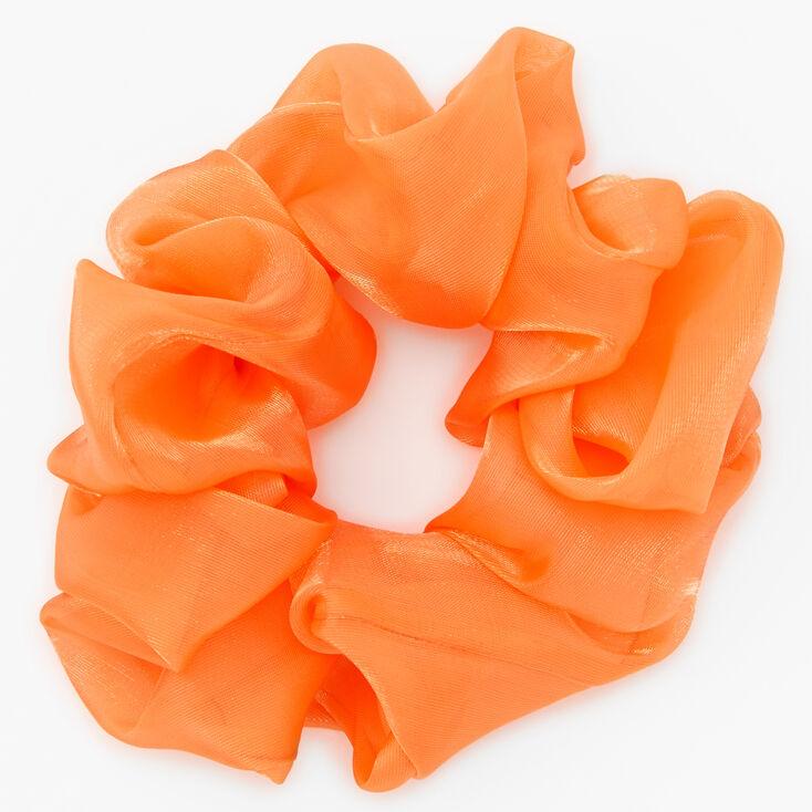 Grand chouchou satiné - Orange,