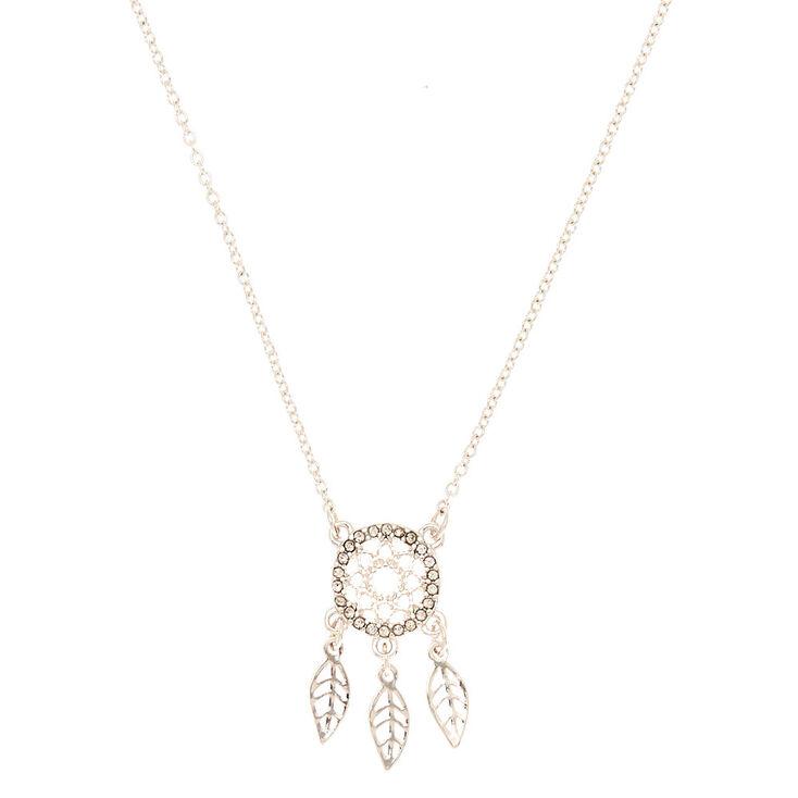 Silver Dreamcatcher Pendant Necklace,