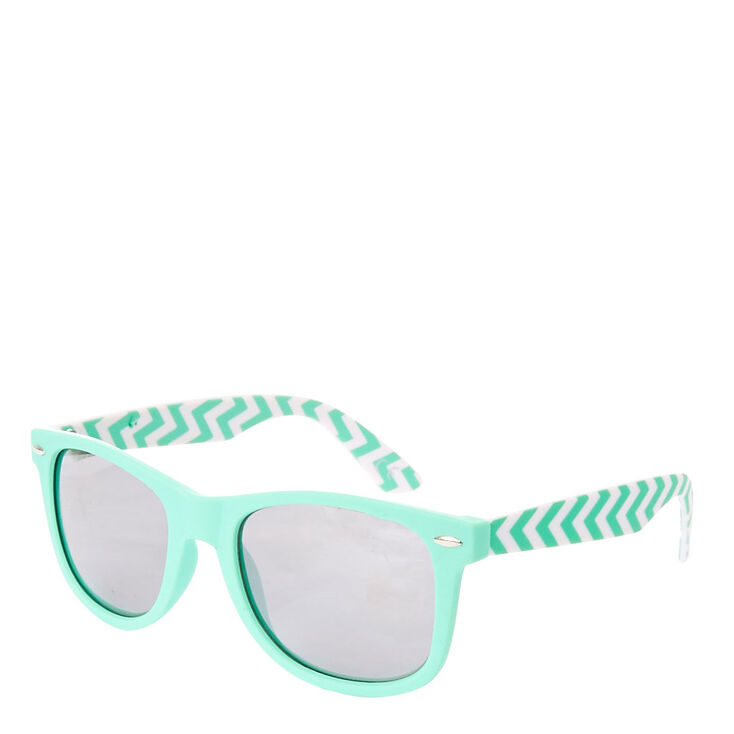 25c640fc6b0a Chevron Mint Retro Sunglasses
