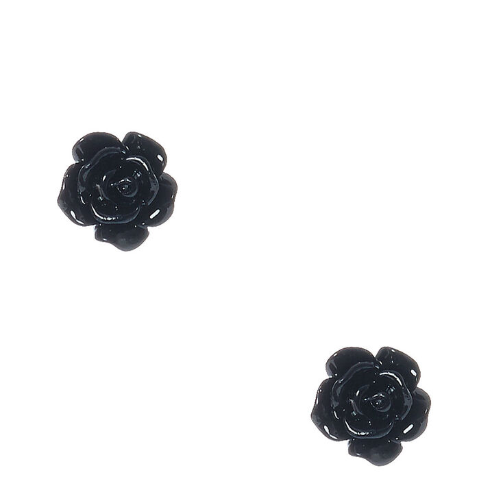 Glitter Rose Stud Earrings,